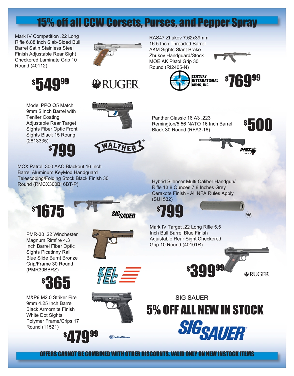 Centerfire Shooting Sports 2017 Fathers Day Flyer page 2 web